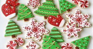 Коледни сладки и красиви празнични сладкиши
