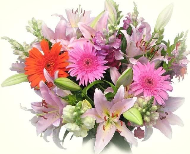 Пролетен букет от цветя