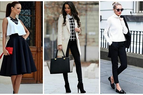 Комбинацията черно и бяло е винаги ефектна, независимо от повода на обличане