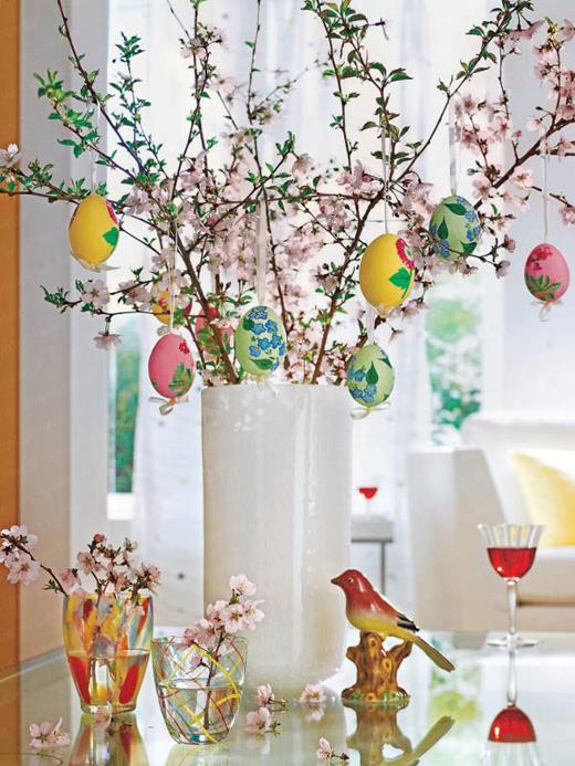 Великденска украса за дома с яйца