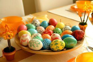 Боядисани яйца с восък