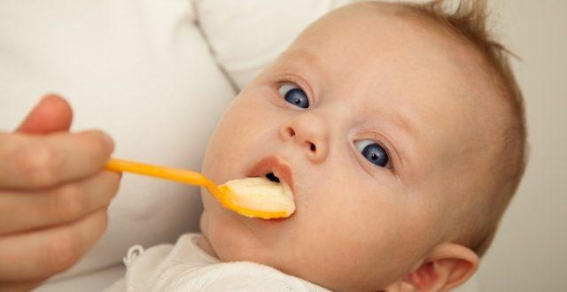 Захранването всъщност представлява замяна на някои от кърменията с по-общи и концентрирани храни
