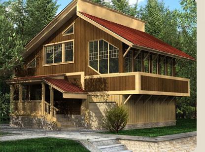 Къща със стълби
