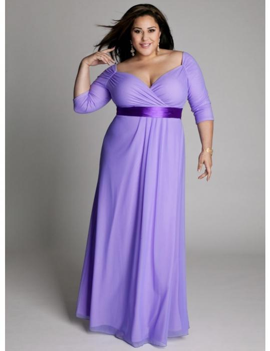Дълга рокля в лила