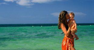На море с малко дете