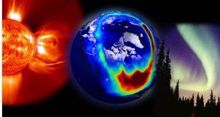При изригвания на слънцето се отделя поток от плазма, състоящ се от заредени с над 1 КеВ. частици - електрони и протони.