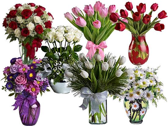 Вази с цветя