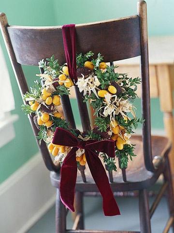 Коледна украса на стол