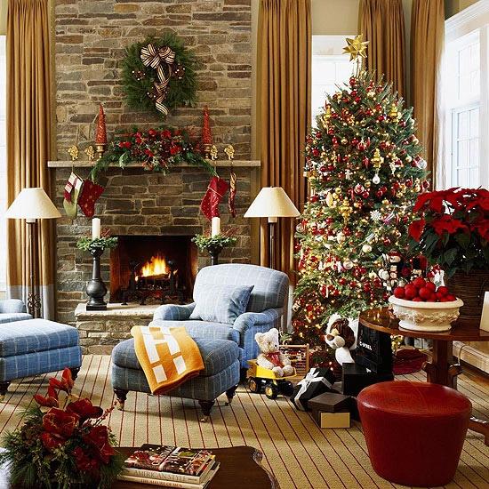 Коледна обстановка у дома