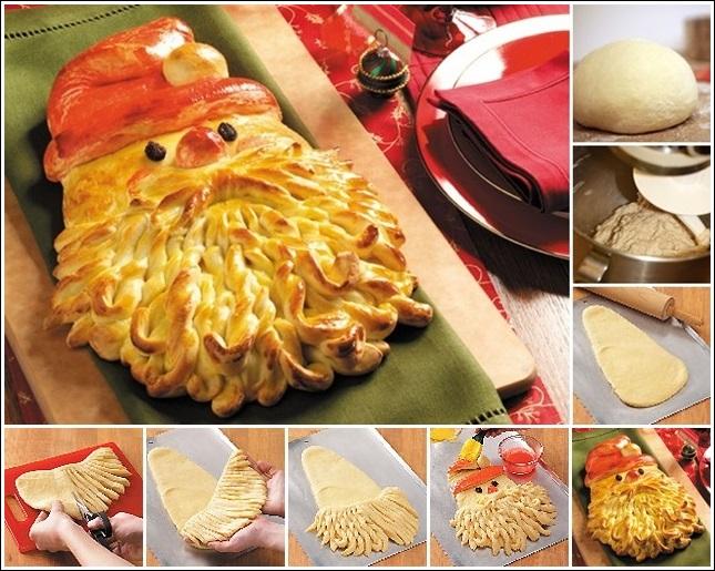 Дядо Коледа от тесто