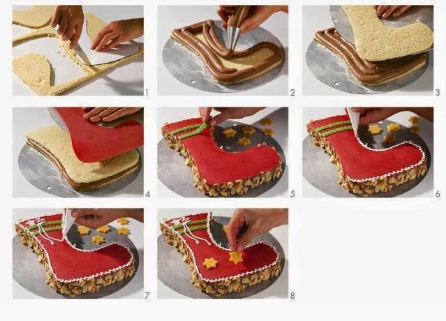 Коледен ботуш - торта